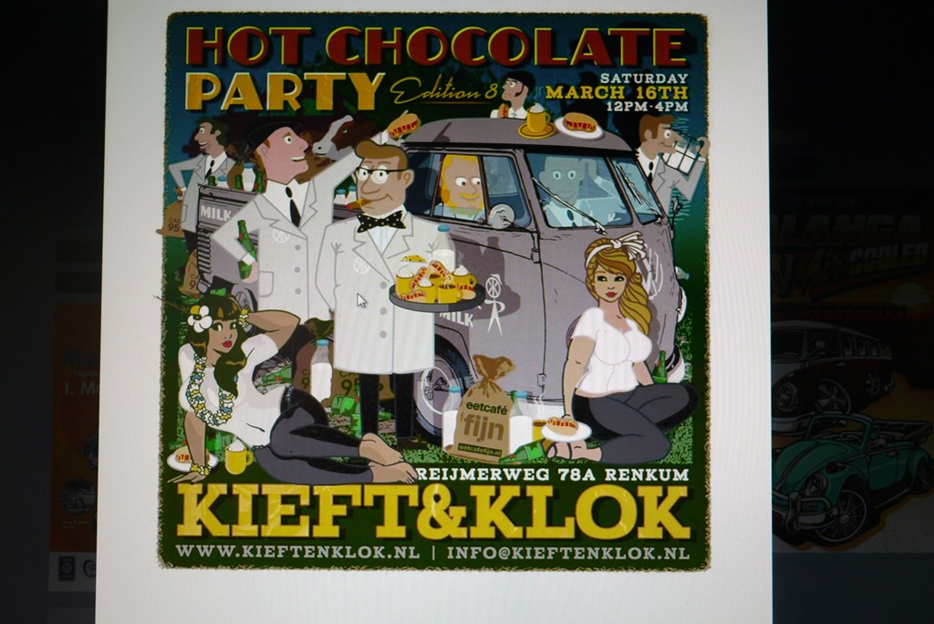 Hot Chocolate Party bei Kieft & Klok in Renkum / Holland am 16.03.2019