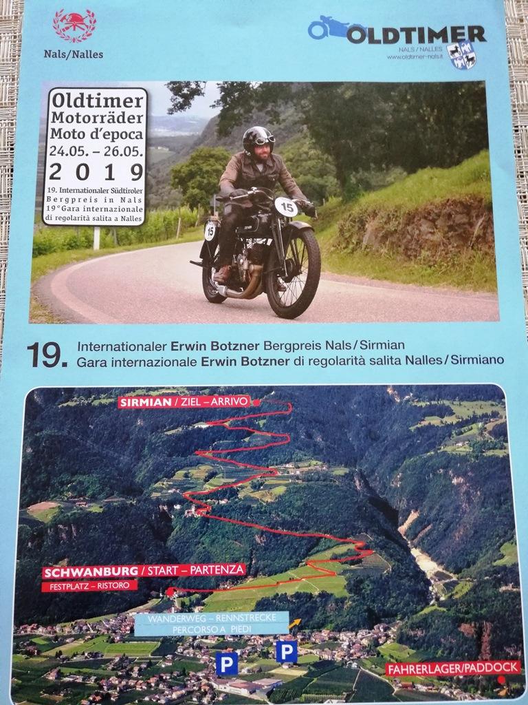 19. Internationaler Erwin Botzner Bergpreis Nals / Sirmian Südtirol am 24.05. – 26.05.2019