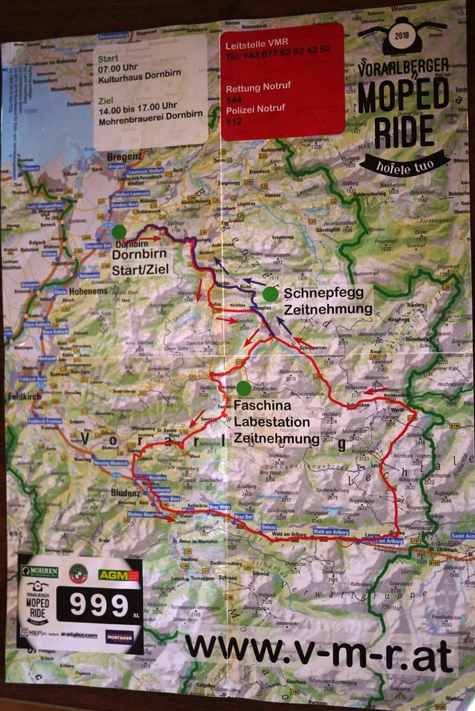 2. Vorarlberger Moped Ride am 1. Juni 2019